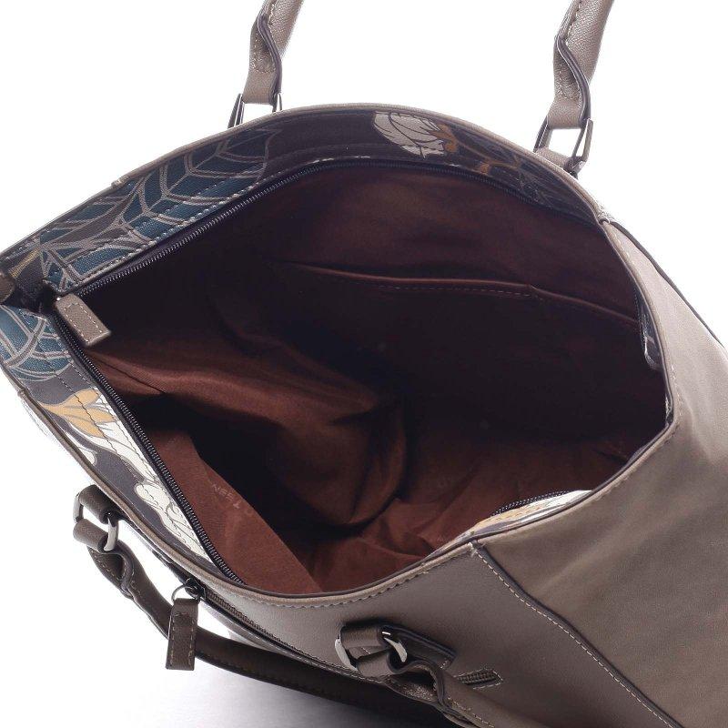 Velká pohodlná dámská taška Atanasio tmavě béžová