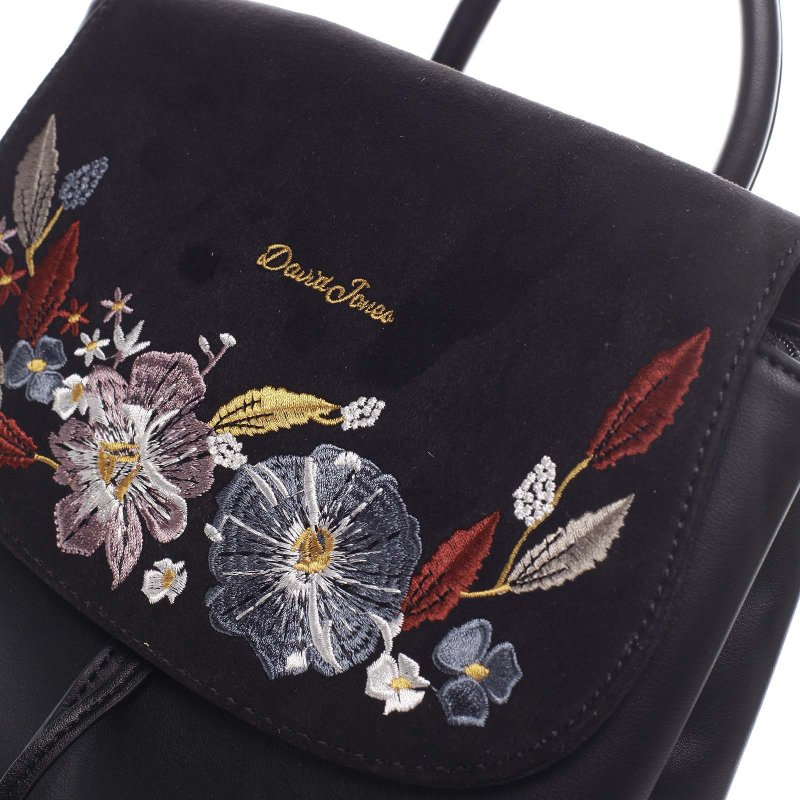Květovaný dámský batůžek Sigismondo černá