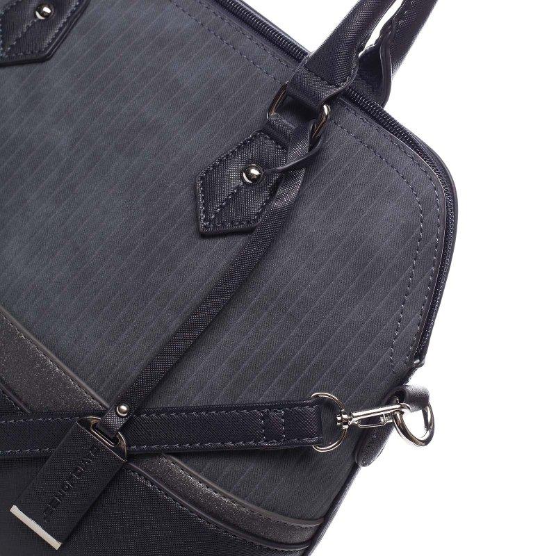 Kombinovaný dámský kožený kufřík Valeria modrá