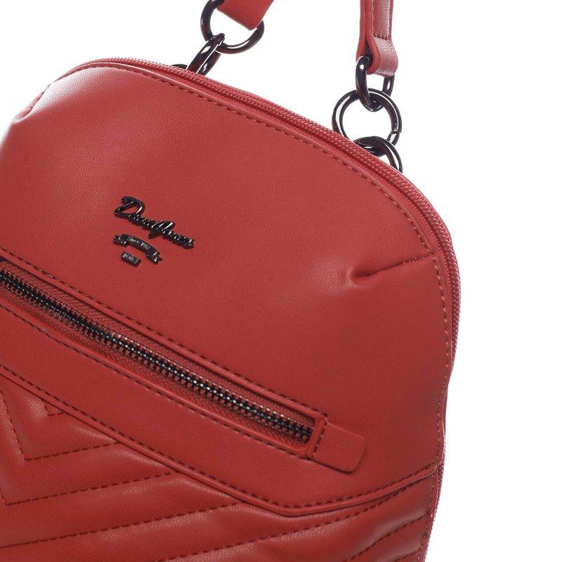 _Módní dámský koženkový batůžek Marcellino červená