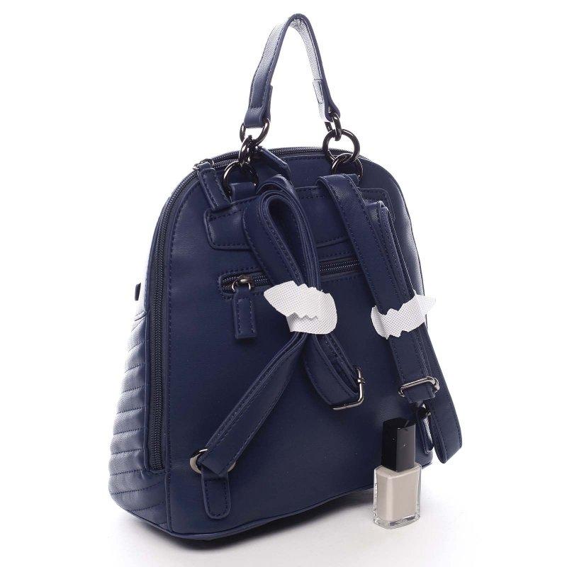 Módní dámský koženkový batůžek Marcellino modrá