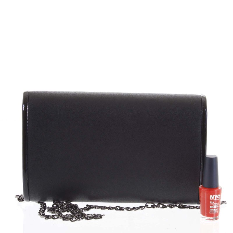 Luxusní dámská psaníčko do ruky Zenone černá