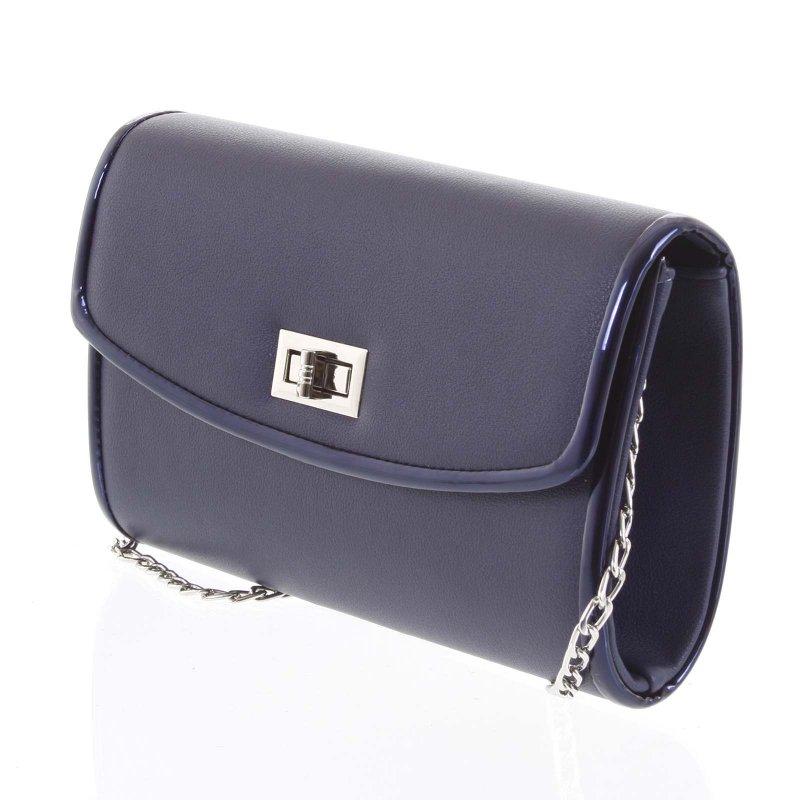 Luxusní dámská psaníčko do ruky Zenone modrá