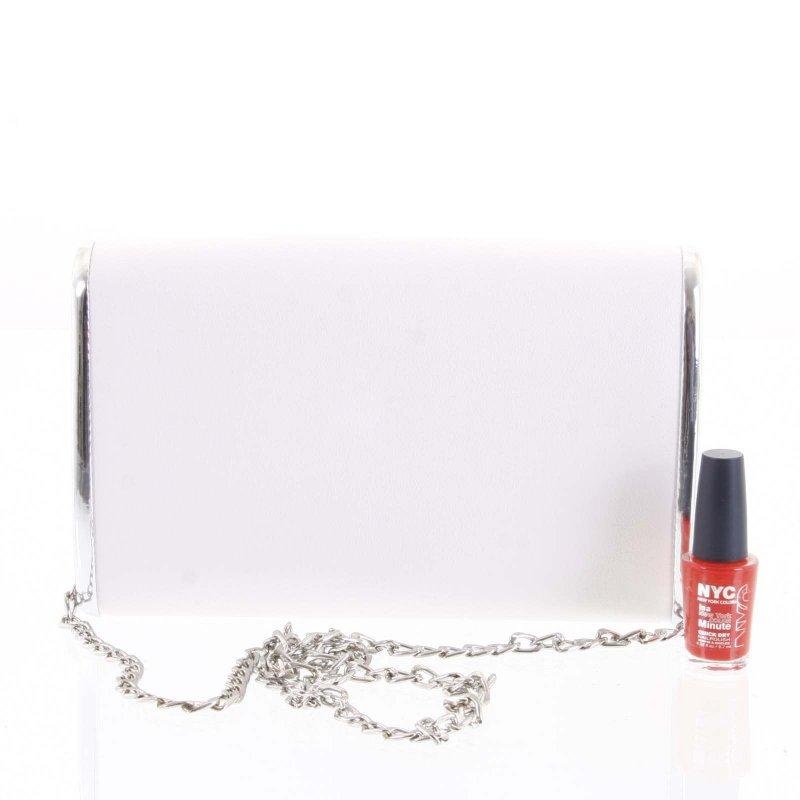 Luxusní dámská psaníčko do ruky Zenone bílá