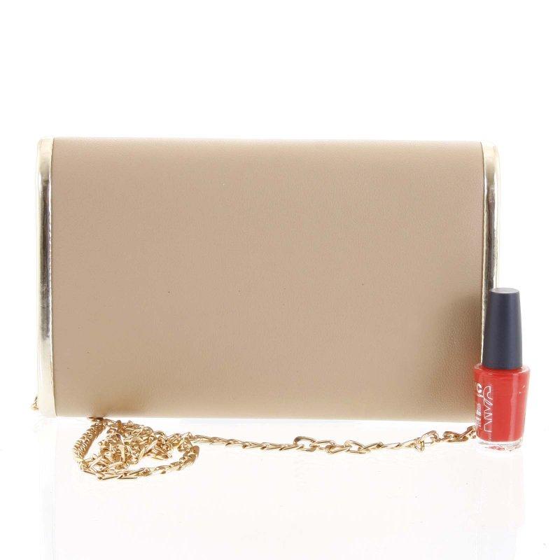 Luxusní dámská psaníčko do ruky Zenone krémová