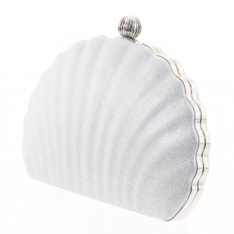 Nepřehlédnutelná plesová kabelka Terenzio stříbrná