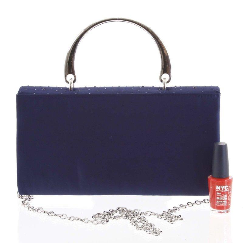 Luxusní dámská psaníčko do ruky Lucio modrá