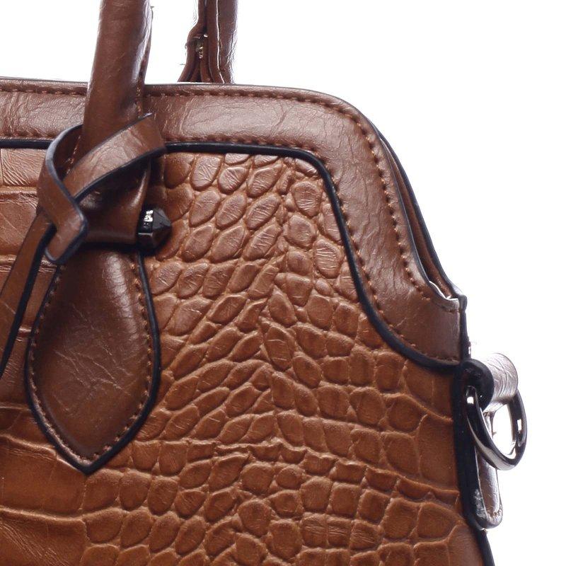 Dámská moderní kufříková kabelka Giustino rezavá