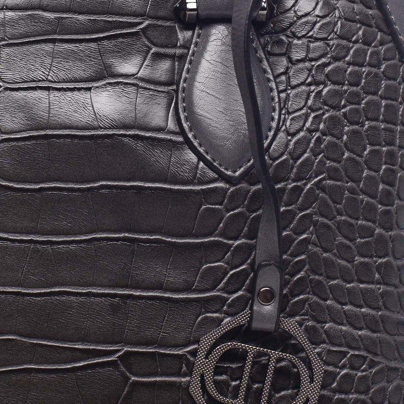 Dámská moderní kufříková kabelka Giustino šedá