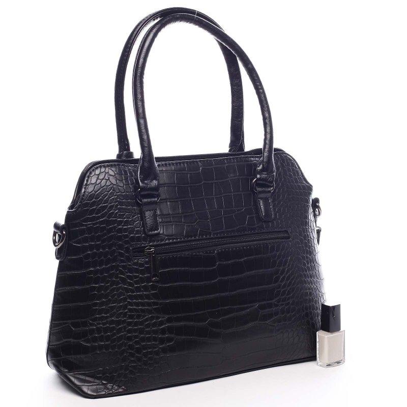 Dámská moderní kufříková kabelka Giustino černá