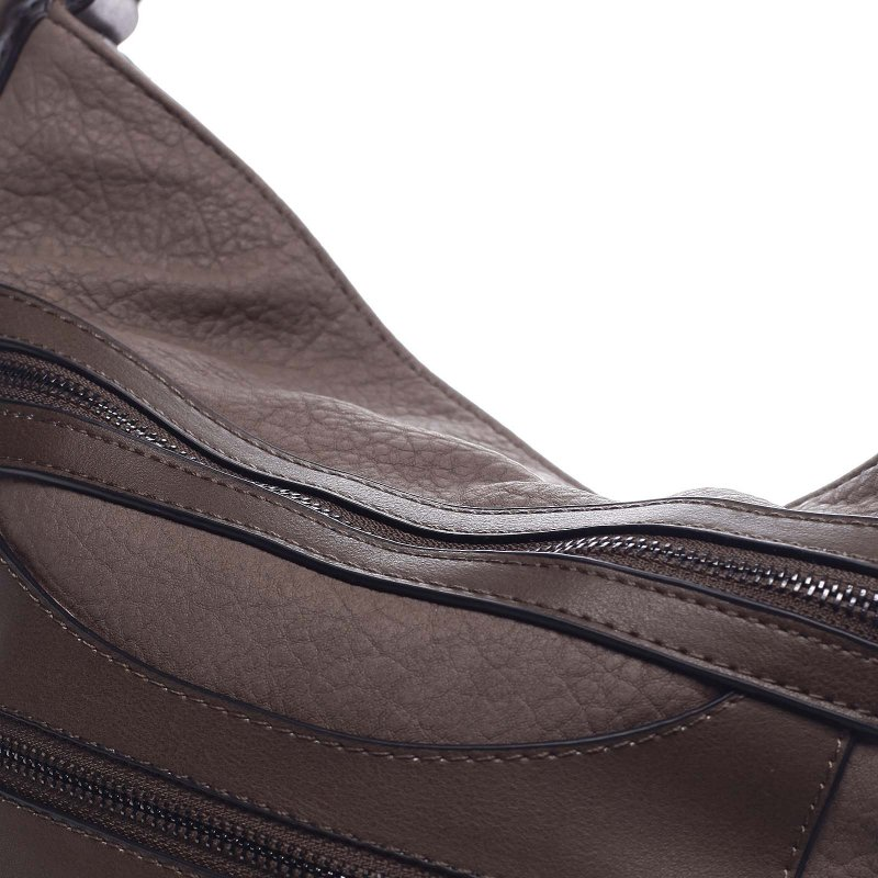 Dámská koženková kabelka/batoh Clotilde hnědá