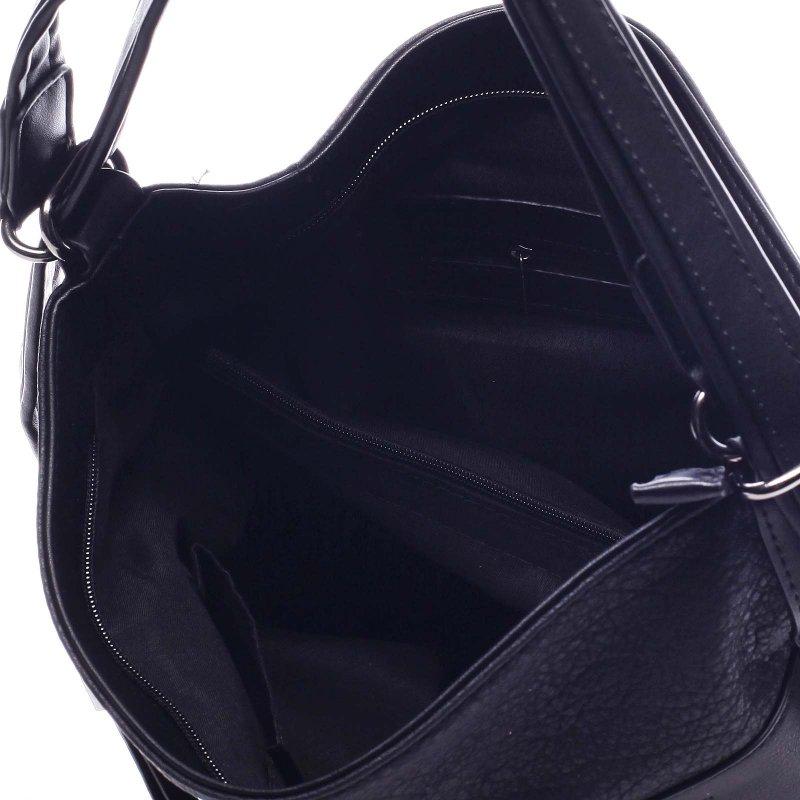 Dámská koženková kabelka/batoh Clotilde černá