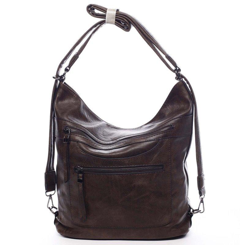 Dámská koženková kabelka/batoh Bonifaco tmavě hnědá