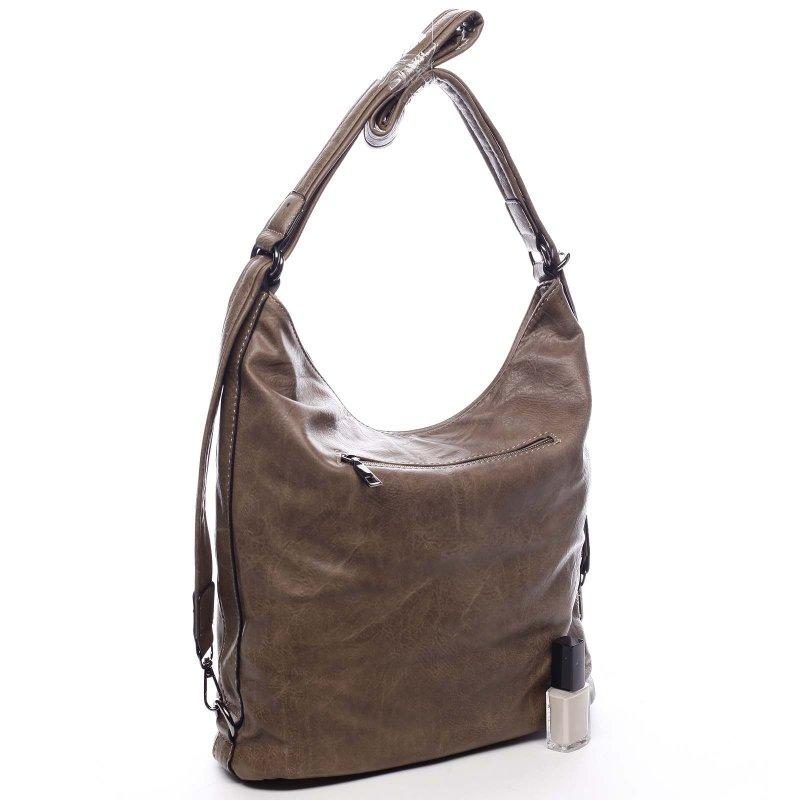 Dámská koženková kabelka/batoh Bonifaco světle hnědá
