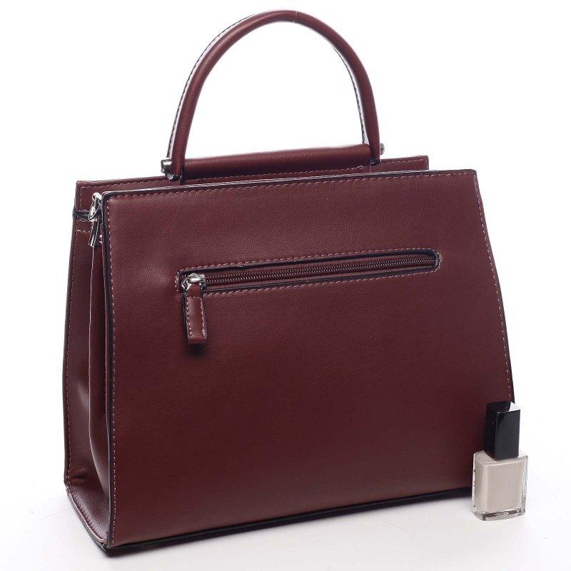 Stylový dámská kufřík Norberto vínová