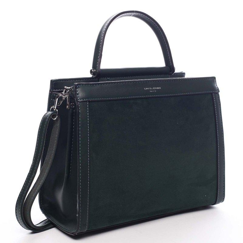 Stylový dámská kufřík Norberto zelená