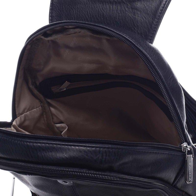 Větší koženkový batoh Barnata modrá