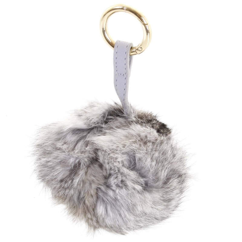 Přívěsek na kabelku chlupatá koule Annora žíhaná