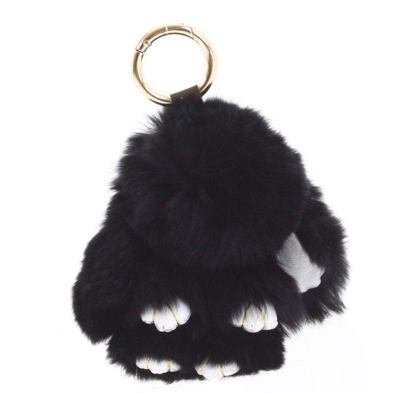 Přívěsek na kabelku králíček Kermit černá