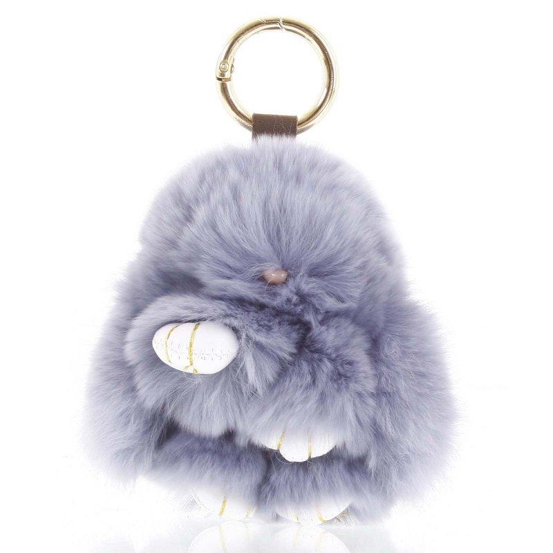 Přívěsek na kabelku králíček Kermit šedá