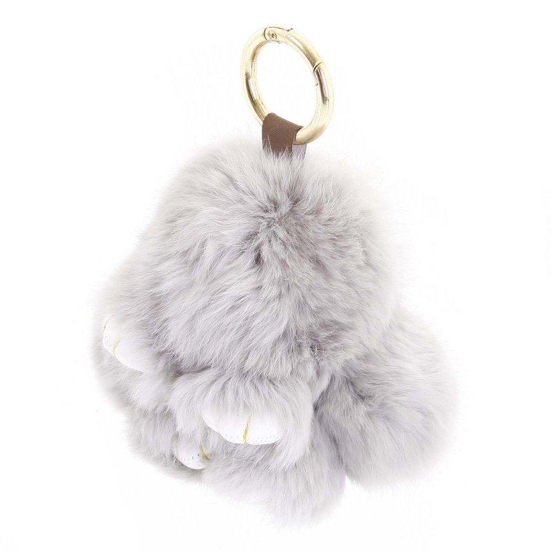 Přívěsek na kabelku králíček Kermit světle šedá