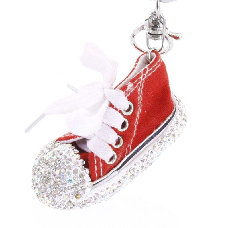 Přívěsek na klíče či kabelku teniska Olinda červená