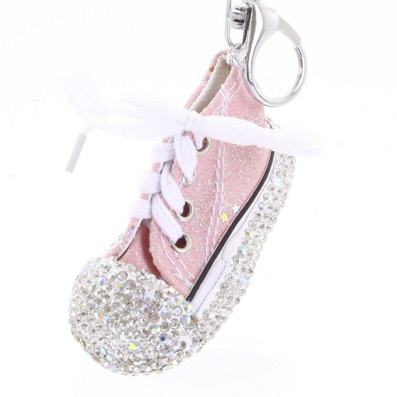 Přívěsek na klíče či kabelku teniska Olinda růžová