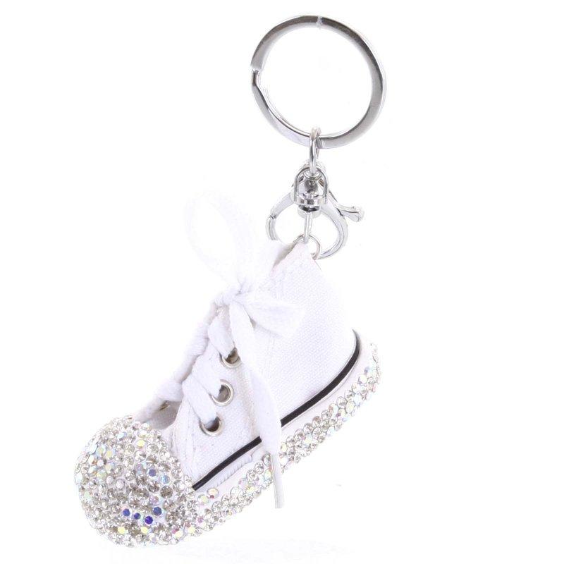 Přívěsek na klíče či kabelku teniska Olinda bílá