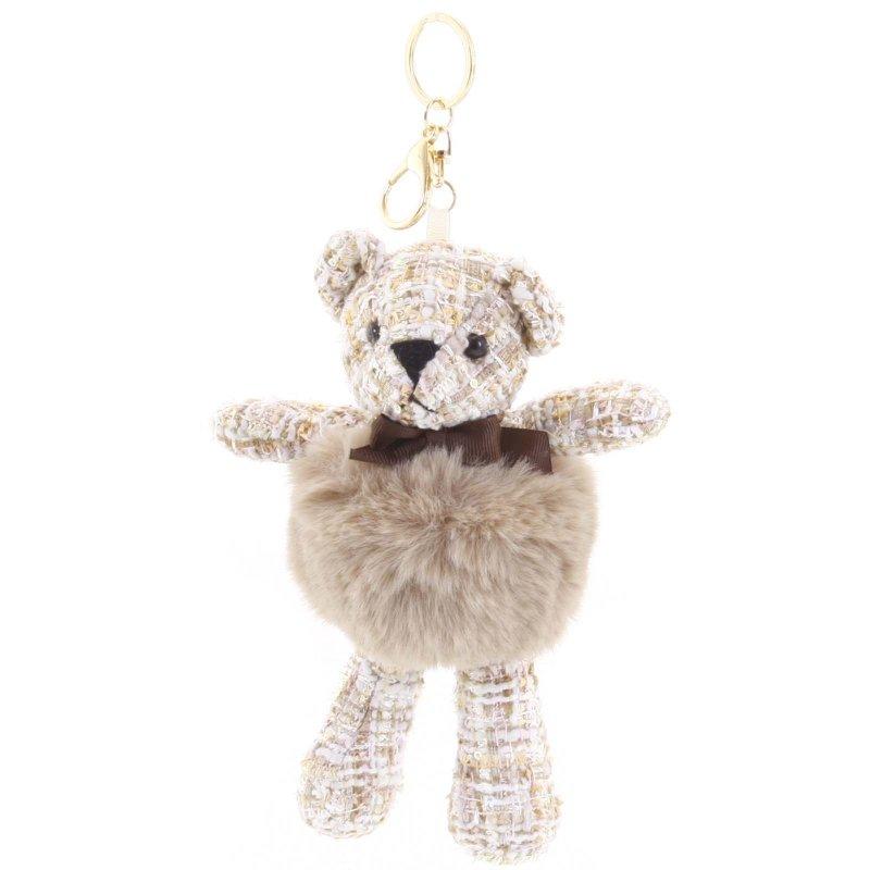 Přívěsek na klíče či kabelku medvídek Derby hnědá