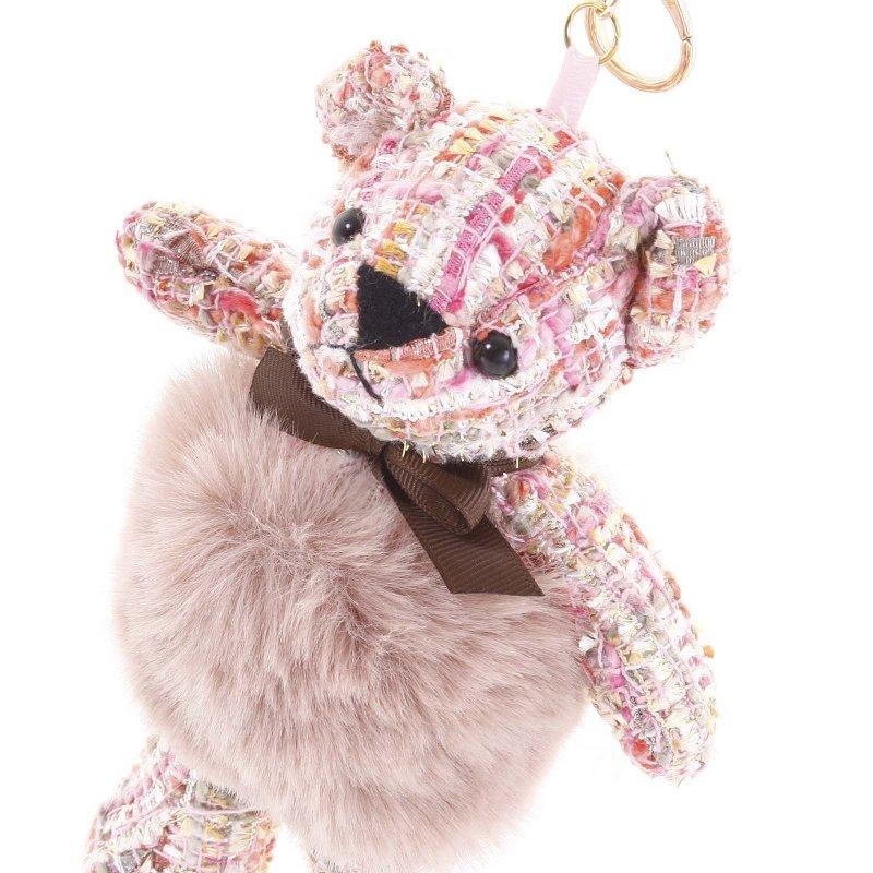 Přívěsek na klíče či kabelku medvídek Derby růžová