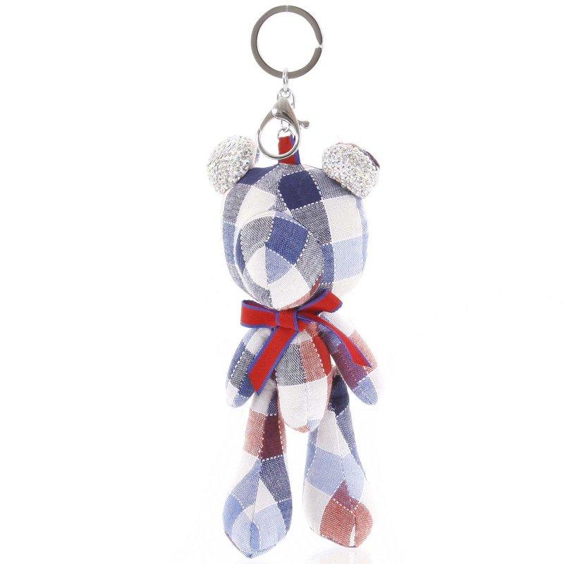 Přívěsek na kabelku či klíče medvídek Mindee červený