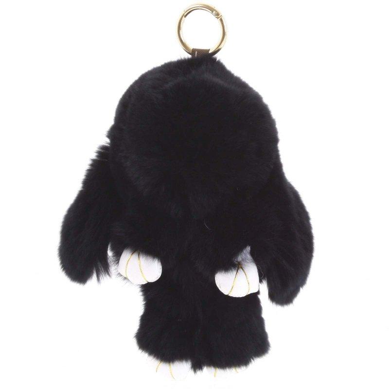 Přívěsek na kabelku či batoh králíček Lindy černá