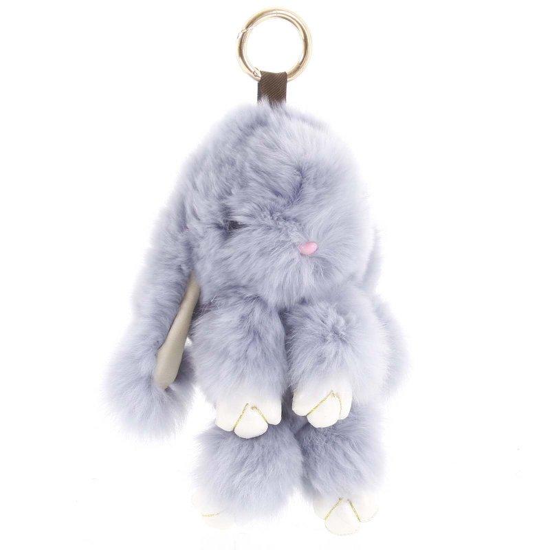 Přívěsek na kabelku či batoh králíček Lindy šedá