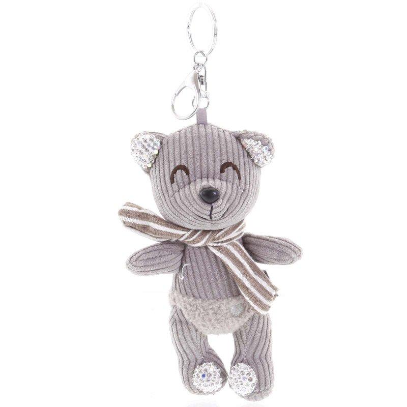 Přívěsek na kabelku, batoh či klíče, medvídek Luis šedá
