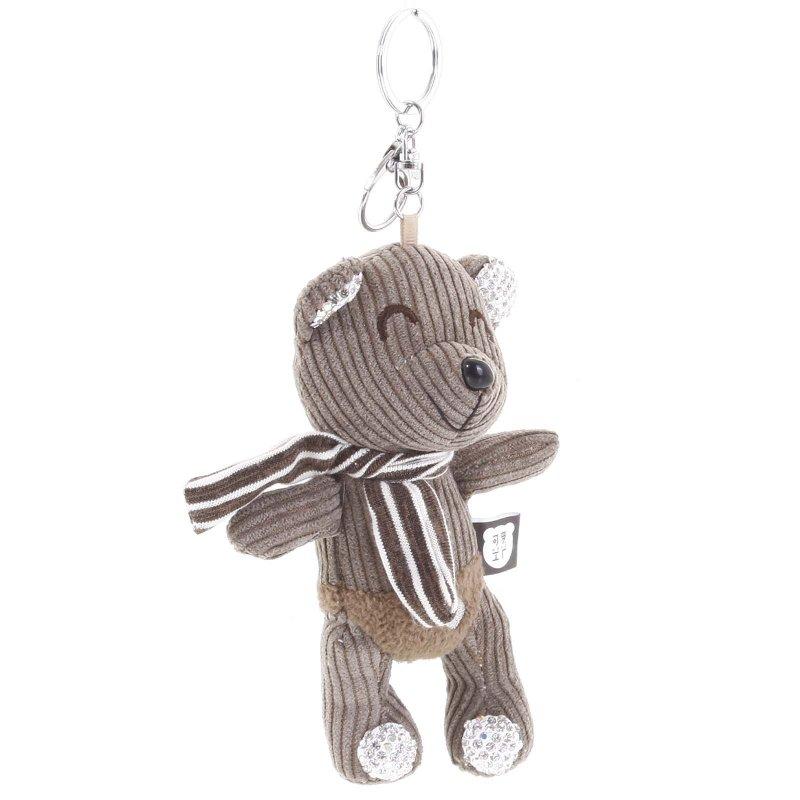 Přívěsek na kabelku, batoh či klíče, medvídek Luis hnědá