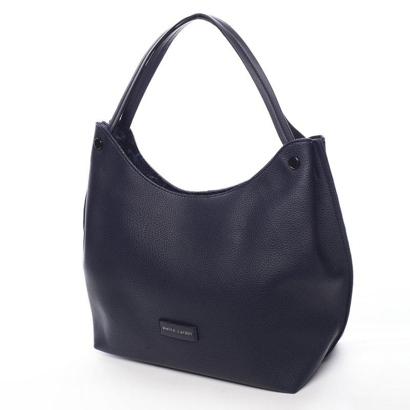 Prostorná dámská kabelka Nina Pierre Cardin modrá