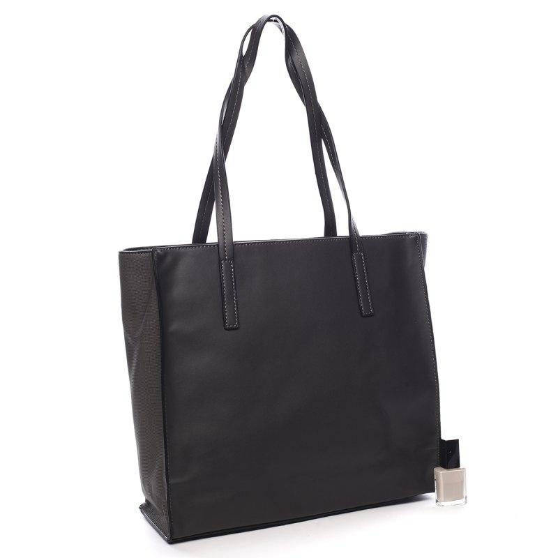 Prostorná dámská kabelka Roseline Peirre Cardin šedá