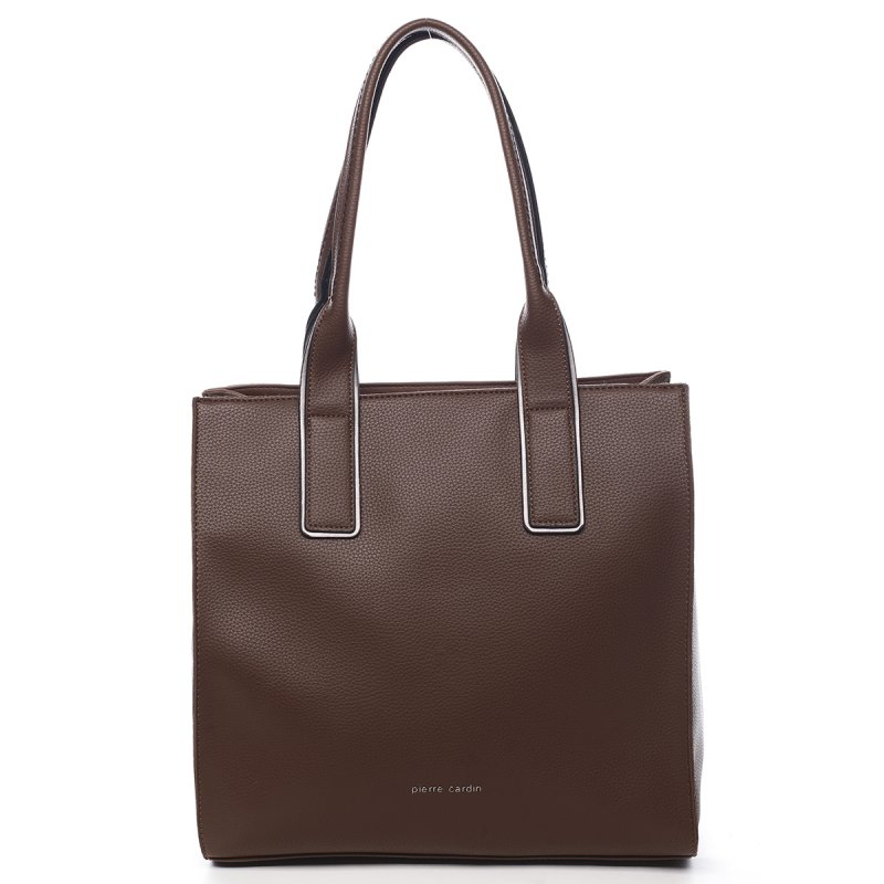 Praktická větší dámská kabelka Fabien Pierre Cardin hnědá