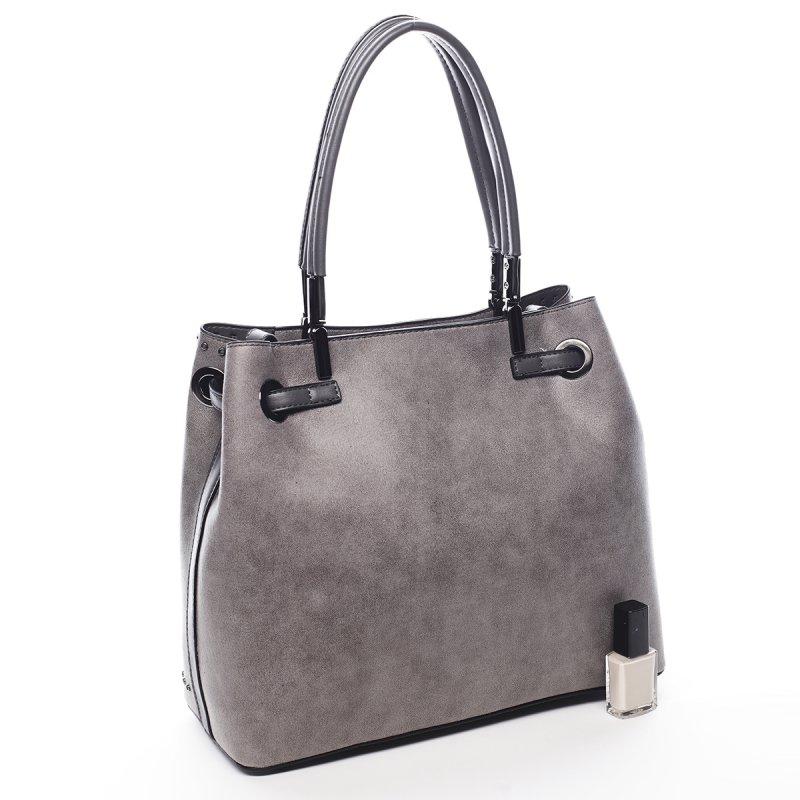 Větší dámská kabelka Bernard Pierre Cardin šedá