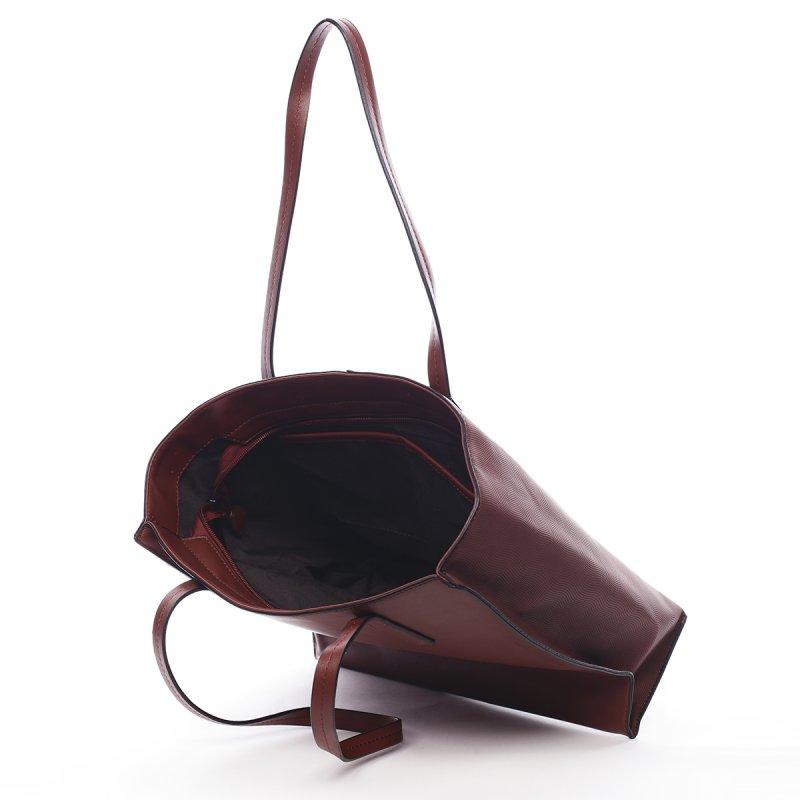 Prostorná dámská kabelka Roseline Peirre Cardin vínová