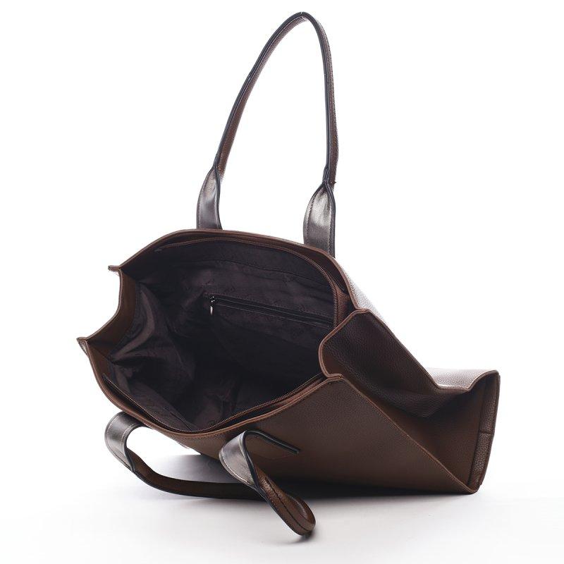 Prostorná dámská kabelka Pauline Pierre Cardin hnědá