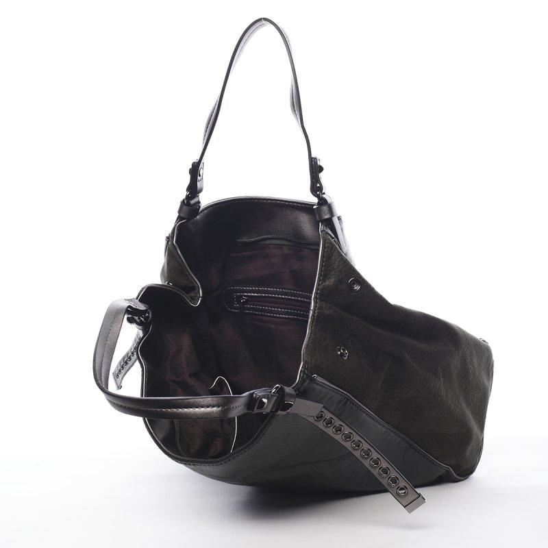 Nepřehlédnutelná módní dámská kabelka Sebastien Pierre Cardin zelená