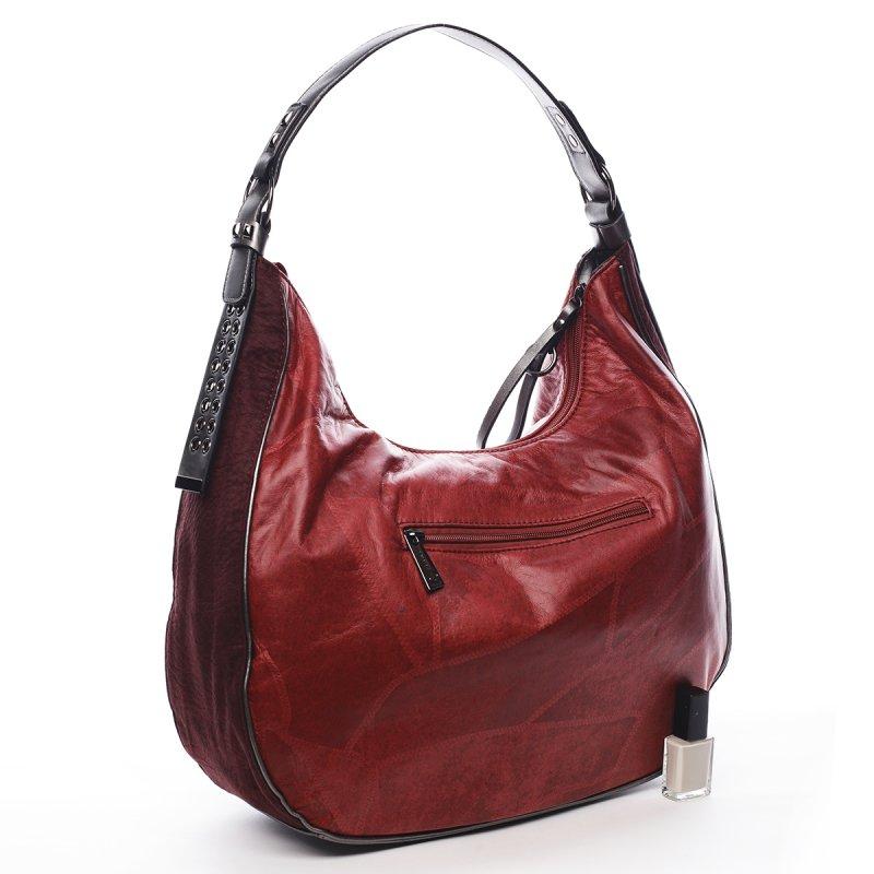 Pohodlná módní dámská kabelka Angele Pierre Cardin červená