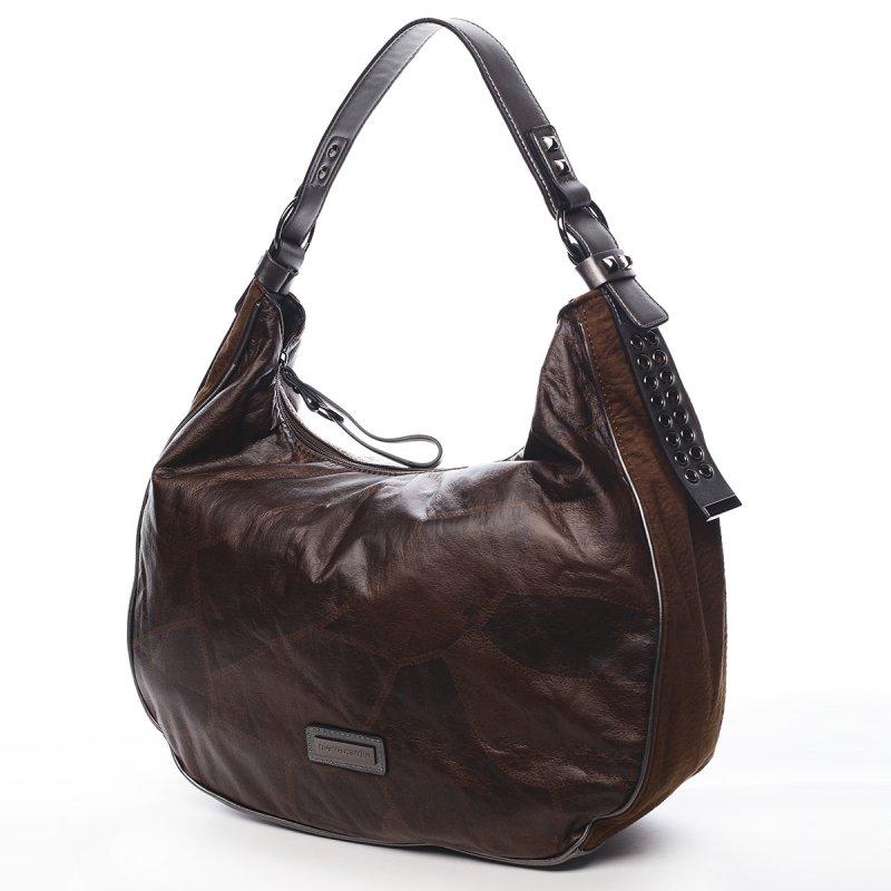 Pohodlná módní dámská kabelka Angele Pierre Cardin hnědá