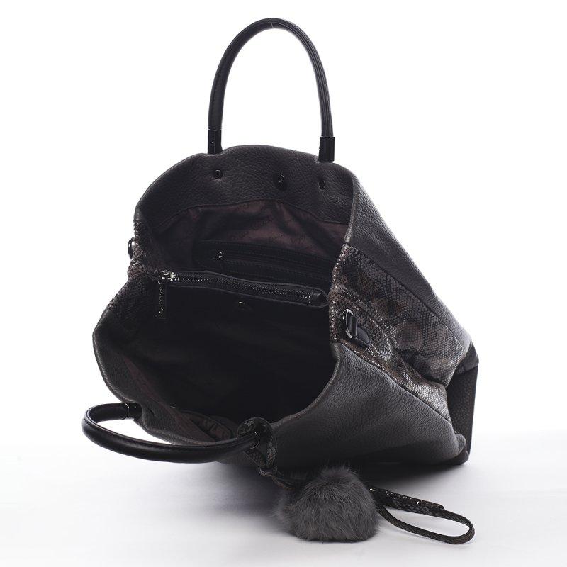Módní dámská kabelka Marius Pierre Cardin šedá