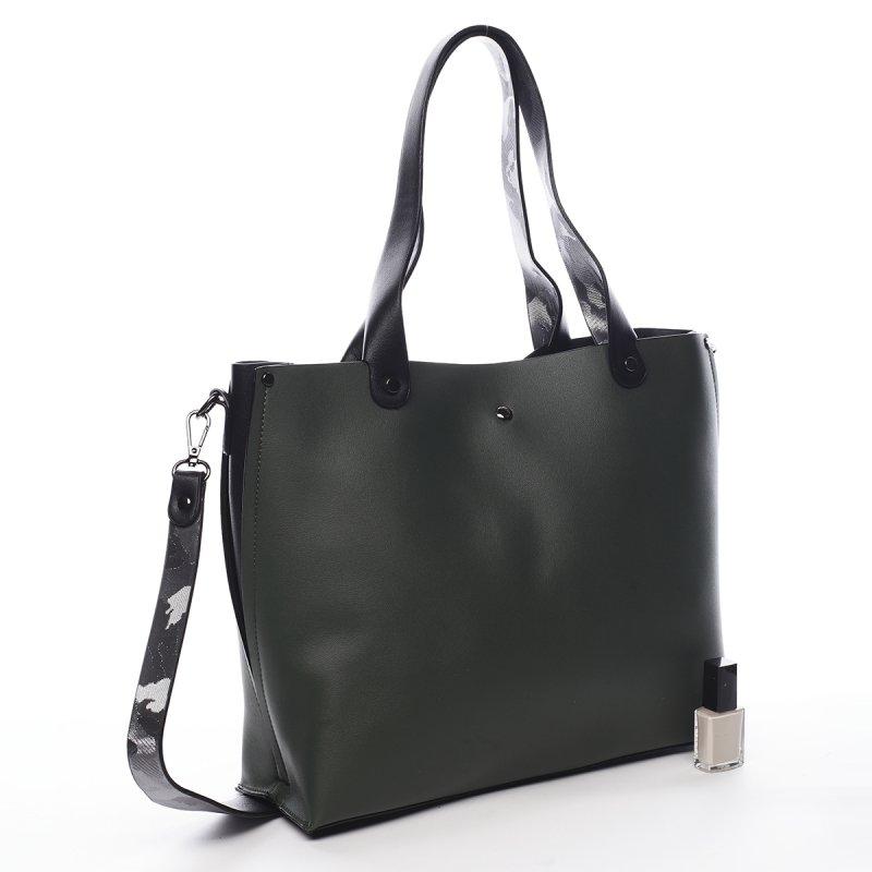 Kombinovaná dámská kabelka Yvette Pierre Cardin zelená