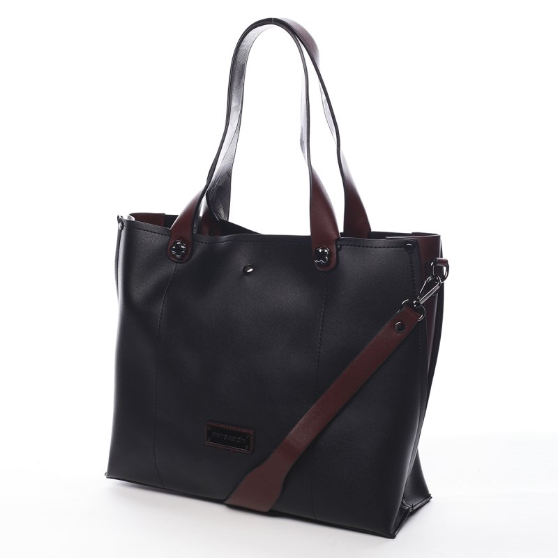 Kombinovaná dámská kabelka Yvette Pierre Cardin černá