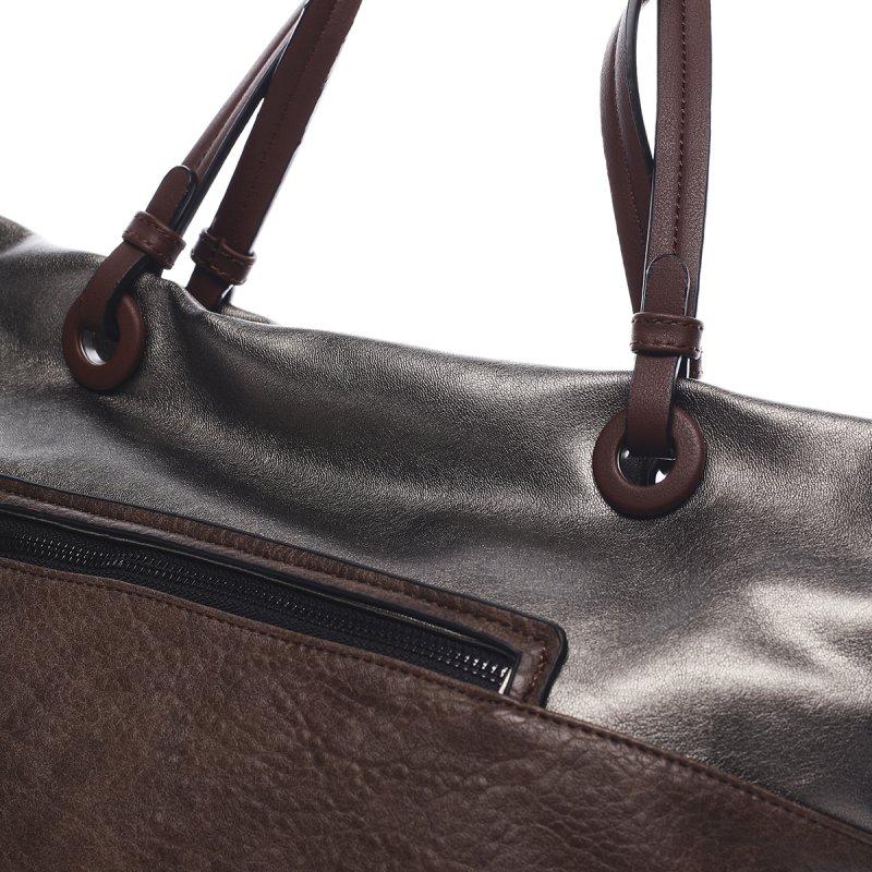 Módní dámská koženková kabelka Manfred Pierre Cardin hnědá