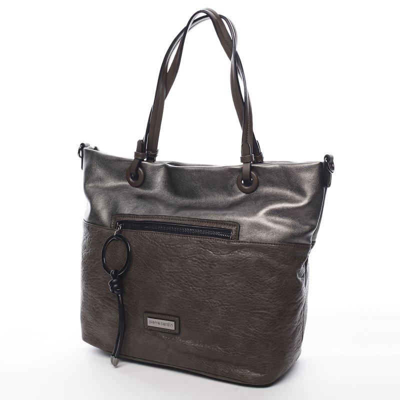 Módní dámská koženková kabelka Manfred Pierre Cardin zelená