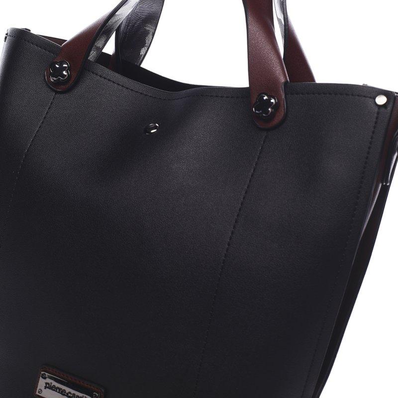 Kombinovaná módní dámská kabelka Thomas Pierre Cardin černá